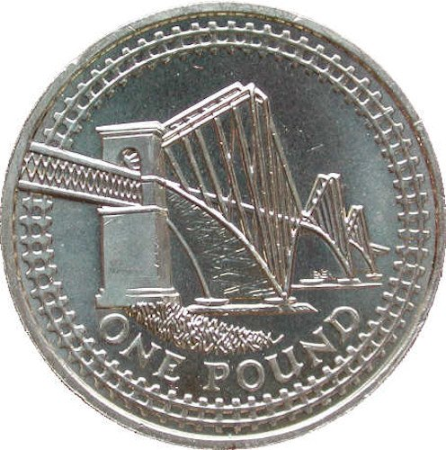 Reverse design of the 2004 UK pound coin