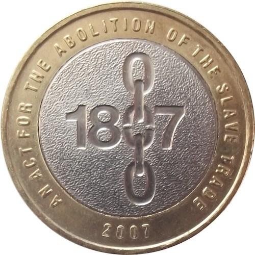 Abolition of slavery 2 pound coin