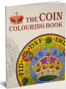 Coin colouring book