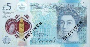 Five Pounds Polymer Churchill note