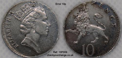 10p Error, Ref: 10P009