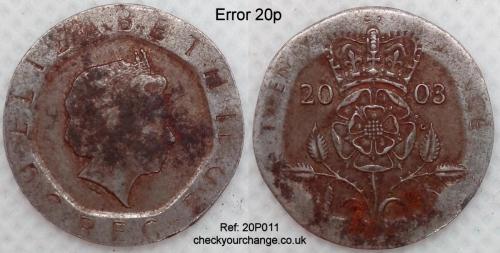 20p Error, Ref: 20P011