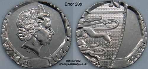 20p Error, Ref: 20P022