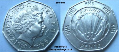 50p Error, Ref: 50P013