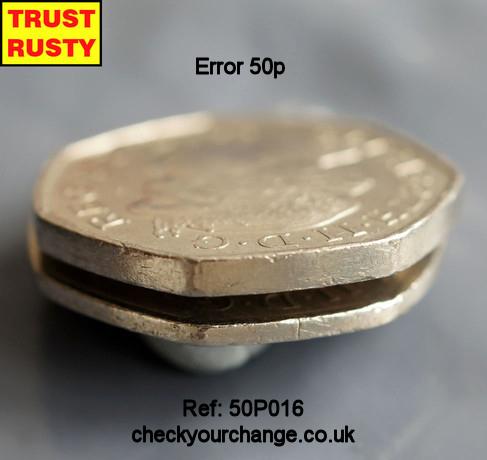 50p Error, Ref: 50P016