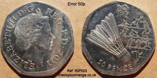 50p Error, Ref: 50P023