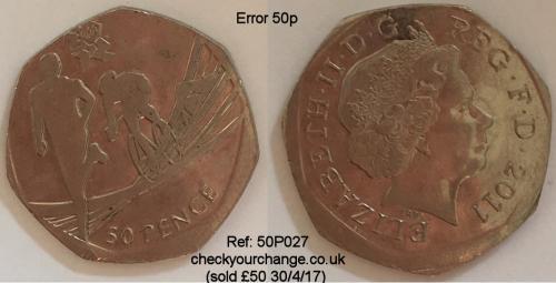 50p Error, Ref: 50P027