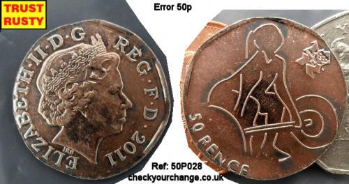 50p Error, Ref: 50P028