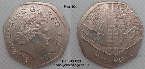 50p Error, Ref: 50P029