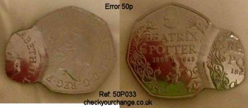 50p Error, Ref: 50P033