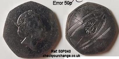 50p Error, Ref: 50P040