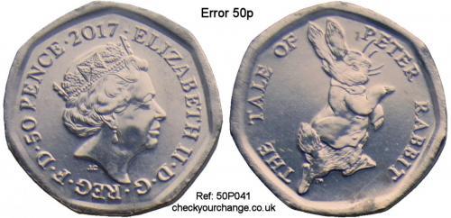 50p Error, Ref: 50P041