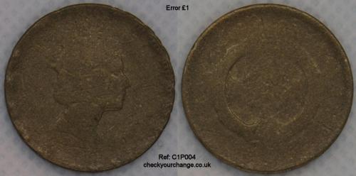 £1 Error, Ref: C1P004
