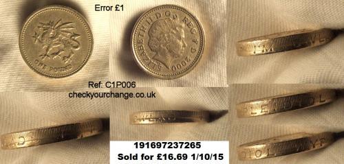 £1 Error, Ref: C1P006