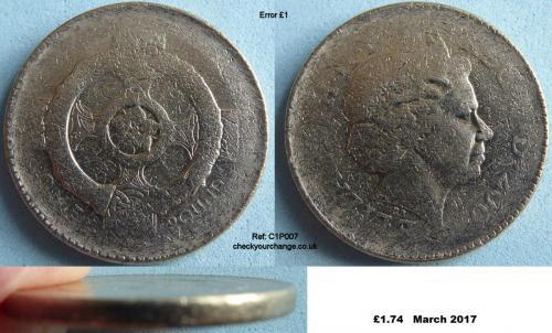 £1 Error, Ref: C1P007