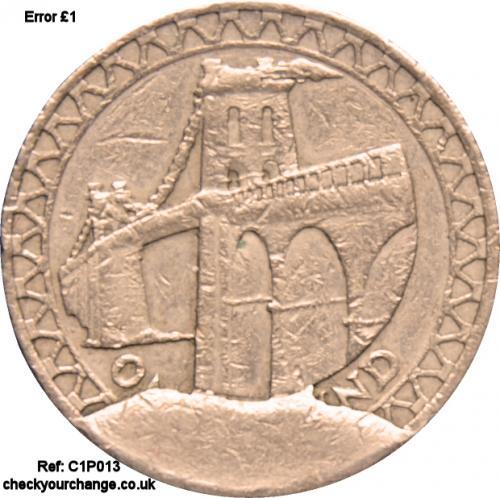 £1 Error, Ref: C1P013