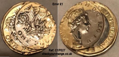 £1 Error, Ref: C1P027