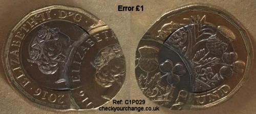 £1 Error, Ref: C1P029
