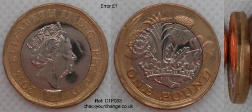 £1 Error, Ref: C1P033