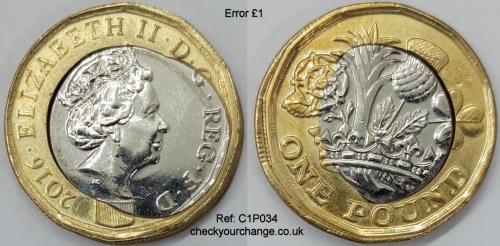 £1 Error, Ref: C1P034