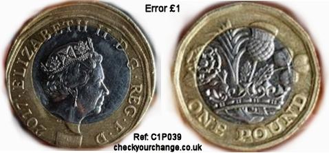 £1 Error, Ref: C1P039