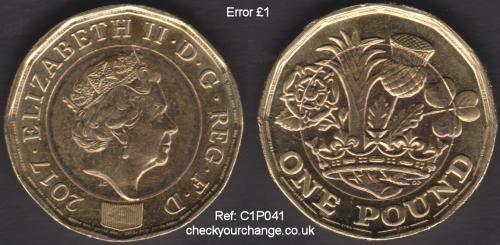 £1 Error, Ref: C1P041