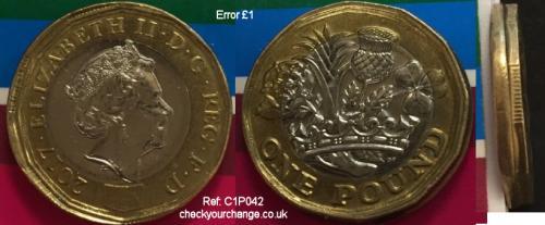 £1 Error, Ref: C1P042