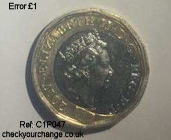 £1 Error, Ref: C1P047