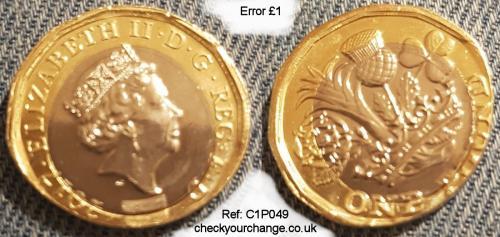 £1 Error, Ref: C1P049