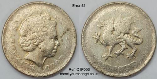 £1 Error, Ref: C1P053