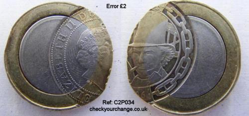 £2 Error, Ref: C2P034