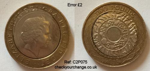 £2 Error, Ref: C2P075
