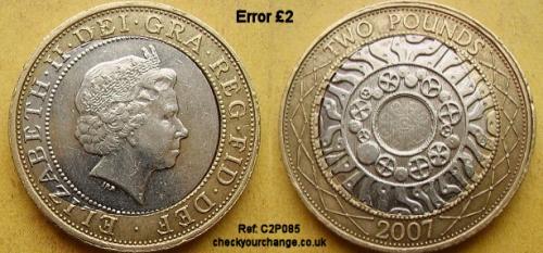 £2 Error, Ref: C2P085