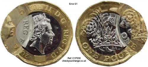 £1 Error, Ref: C1P030